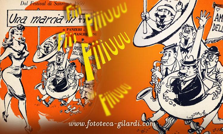 copertina umoristica canzone - elaborazione ©Fototeca Gilardi