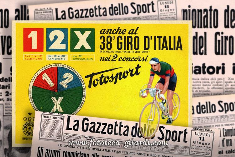 Cartolina promo Totosport per il Giro d'Italia
