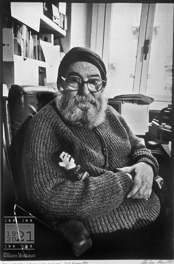 Ando Gilardi, fotografia di Mauro Montanari 1990