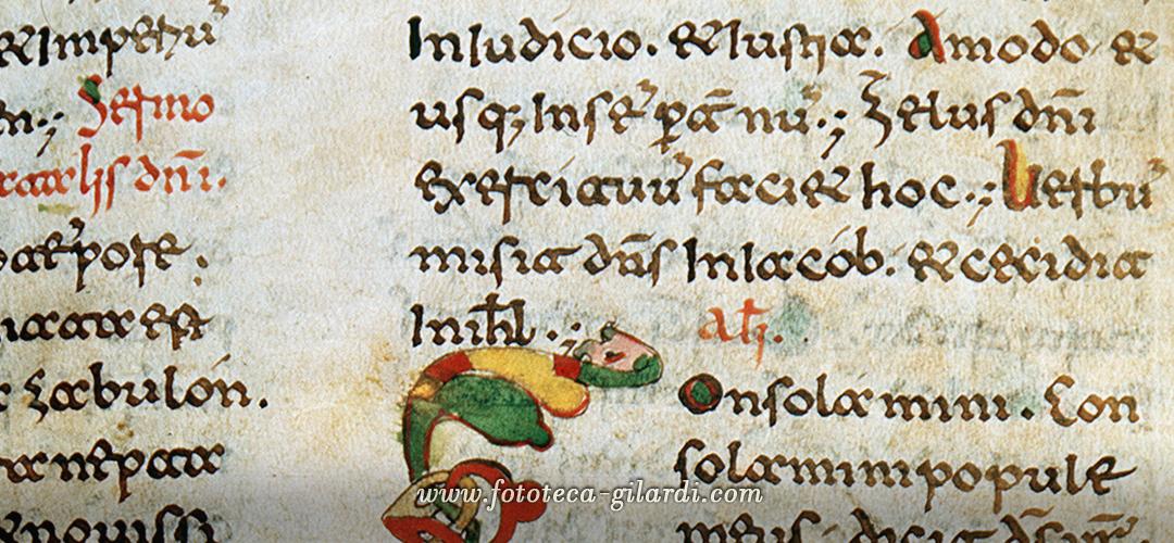 Manoscritto in scrittura archeogotica XIII secolo.