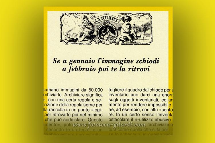 Effemeridi delle immagini di Gennaio, di Ando Gilardi tratto da Phototeca 13
