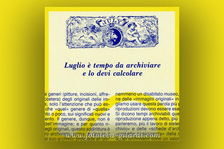 Effemeridi delle immagini di Luglio, di Ando Gilardi