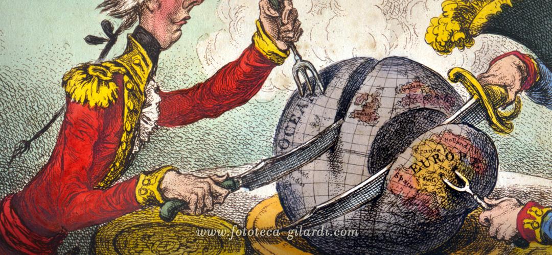 i potenti si mangiano il mondo caricatura di James Gillray 1805