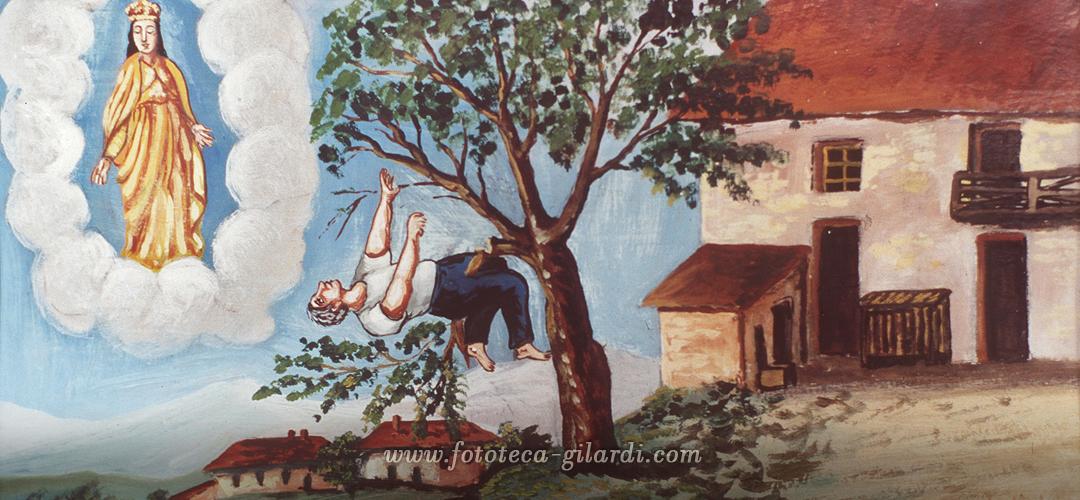 Ex Voto Per Grazia Ricevuta alla Madonna che salva da una caduta dall'albero, 1939 - Santuario della Pieve, Ponzone (AL)