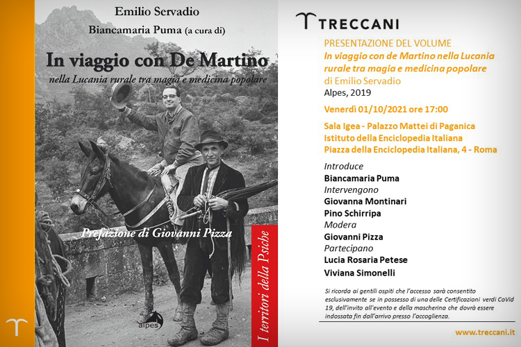 """In viaggio con De Martino nella Lucania rurale tra magia e medicina popolare"""", di Emilio Servadio a cura di Biancamia Puma"""