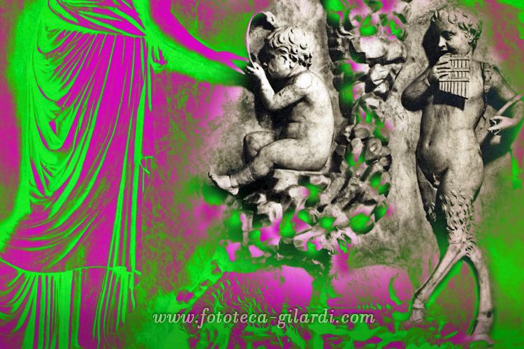 'La ninfa Leucotea e Bacco fanciullo', bassorilievo