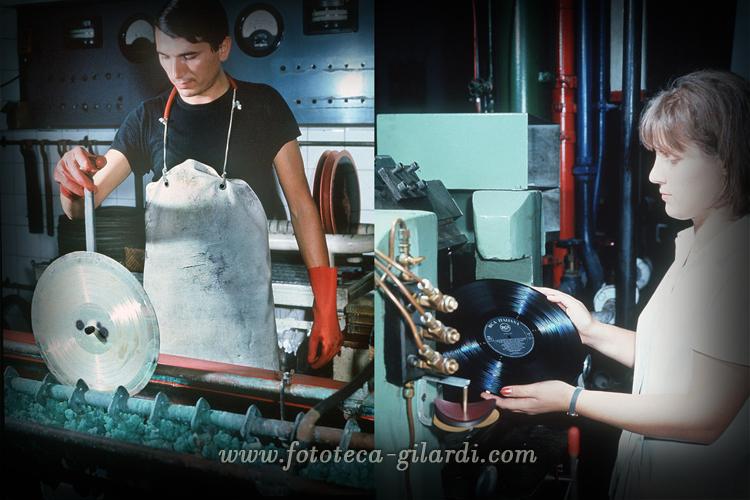 procedimento di stampa dischi in vinile servizio fotografico di Ando Gilardi