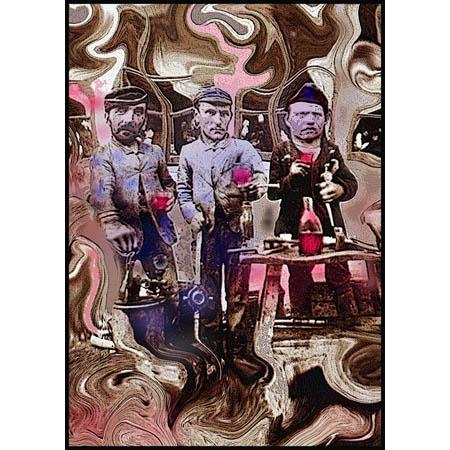 Bevevano i nostri padri, elaborazione digitale di Ando Gilardi